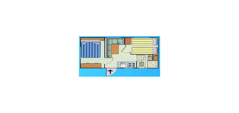 Mobile-home Maya 2 rooms - 4 sleeping places