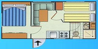 Mobil-home Maya 2 chambres - 4 couchages